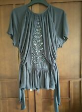Topshop Grey Sequin Top Size 12 New with Tags