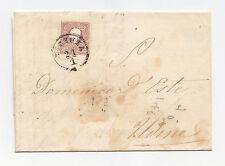 R963-LOMB.VENETO-10 SOLDI DA VICENZA AD UDINE 1860