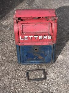 Antique Heavy Cast Iron U.S Post Office Postal Mail Box - Carlisle Pennsylvania