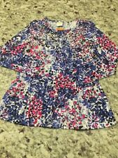 Gymboree Nwts Size 4 Back To School Multicolor Peacock Sequins Long Sleeve Top