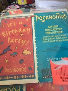 POCAHONTAS VINTAGE DOOR BANNER ~ Birthday Party Supplies Disney Decorations