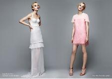 Topshop Pink Lace Mini Frill Dress by Richard Nicoll UK 12 EURO 40 US 8 RRP £175