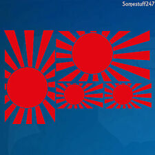 4 x Japanese Rising Sun Navy Flag- Vinyl Car decals/ sticker -219