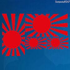 4 x Japanese Rising Sun Navy Flag- Vinyl Car decals/ sticker -219