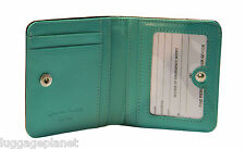 iLi Womens RFID Blocking Mini Two Toned Leather Card Case Wallet 7831 RFB