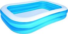 Paddling Pool Family Size 79 Inches Inflatable Rectangle 450L Wide Air Pump