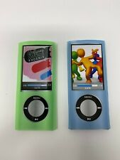 NEW iPod Nano 5th Gen Blue and Green Silicon Case, (8164)