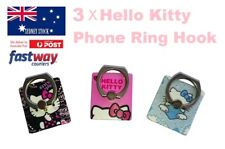 3 X HELLO KITTY PVC Ring Hook Mobile Phone Car Mount Holder for Any Smartphone