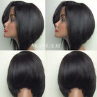 Brazilian Fiber Short Bob Straight wig Heat Resistant Synthetic Lace Front Wig