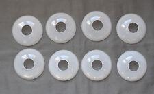 8 Coupelles ou bobêches en opaline blanche pour lustre bougeoir lampe