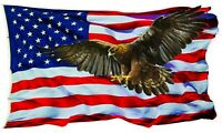 """American Flag Golden Eagle V2 Decal large 24"""" Free Shipping"""