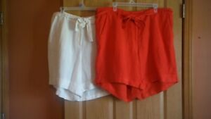 Lane Bryant 18/20 Linen Blend, cuff shorts, Choose Color, NWT