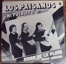 LOS PAISANOS Mi Pueblito: Amor De La Play Amor Sincero LP OOP Romar Latin
