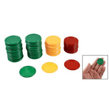 Red Yellow Green Round Shaped Mini Poker Chips Lucky Game Props 69 Pcs HY
