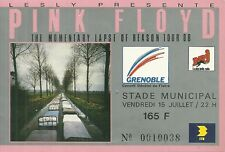 RARE / TICKET BILLET DE CONCERT - PINK FLOYD LIVE A GRENOBLE ( FRANCE ) 1988