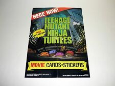 TEENAGE MUTANT NINJA TURTLES MOVIE POSTER Topps Trading Cards Promo TMNT 1990