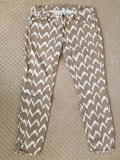 7 FOR ALL MANKIND Camel Aztec Print Ankle Skinny Jeans - Size 28