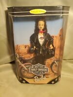 BARBIE HARLEY DAVIDSON CYCLES DOLL NIB MATTEL 1998 BLACK LEATHER OUTFIT 22256