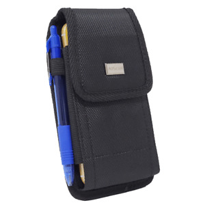 Cell Phone Pouch Tactical Holster Metal Belt Clip Loop Rugged Case (6 sizes)