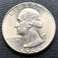 USA 1944 Washington Quarter 25c Top Erhaltung BU Silber #25062
