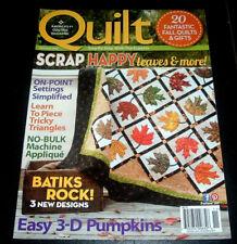QUILT MAGAZINE Oct/Nov 2012 ~ Quilting 3-D Pumpkins ~ Pumpkin Patch Centerpiece