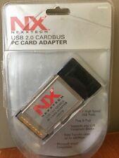 Nerxxtech N2Pucb 2-Port Usb 2.0 CardBus Adapter Laptop Notebook Pc Card