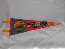 Old Vtg TERRE DES HOMMES Montreal Canada FELT PENNANT Flag Travel Souvenir