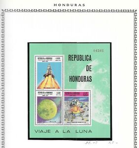 HONDURAS. 1969. SPACE MINIATURE SHEET. NEVER HINGED MINT. NOTED IN SG AFTER 754