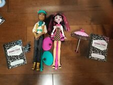 Monster High Draculaura And Clawd Wolf Set doll Forbidden Love no box
