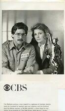 TIM MATHESON LISA EICHORN PORTRAIT BLIND JUSTICE ORIGINAL 1986 CBS TV PHOTO