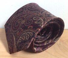 Burma-Bibas Silk Neck Tie Paisley Red Purple
