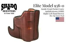 SHADO Leather Holster USA Elite Model 938-0 AMBI Pocket Holster Brown Sig Sauer