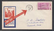 USA 1942-44 WWII THREE PATRIOTIC COVER STATUE OF LIBERTY, EAGLE & FACTORY WORKER