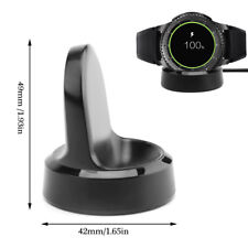For Samsung Gear S3 Classic/Frontier Wireless Charging Dock Cradle Charger-Black