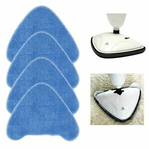 4x Washable VAX S86-SF-CC Blue Steam Mop Cleaning Triangle Pads Microfibre Lot