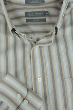 Daniel Cremieux Hombre Azul & de Rayas Blancas Camisa Informal XL Extra Grande