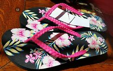 Women's FLORAL PRINT slippers Shoes Sandals size 10