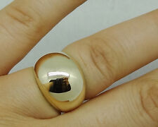 R024 Genuine Heavy 9K 9ct SOLID Yellow Gold 15mm WIDEST DOME Ring size M