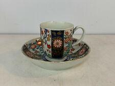 Antique 18th Century Worcester Porcelain Kakiemon Tea Cup & Saucer