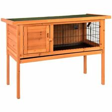 Home Discount Wooden Pet Rabbit Hutch Single Bunny Guinea Pig Cage Animal House