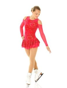 NEW MONDOR Medieval Red Glitter Velvet Figure Skating Dress #12924 Adult Large