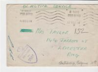 british on active service stamps cover 17th dec 1944 ref 18617
