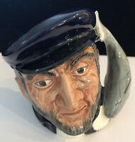 Royal Doulton (Eyes Left) Capt Ahab Character Toby Jug Mug 1958 England