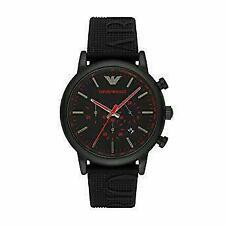 Emporio Armani Luigi Black Silicone Men's Watch