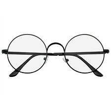 Round Glasses Retro Vintage Classic Round Metal Clear Lens Glasses
