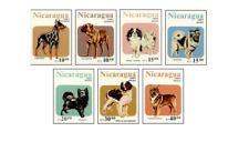 NIC8704 Dogs 7 stamps MNH NICARAGUA