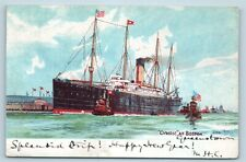 Postcard Cunard White Star Rms Steamship Line Ss Cymric Steamer Ship c1906 V6