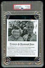 Desmond Doss signed autograph auto 5x6 cut WWII MOH Hacksaw Ridge PSA Slabbed