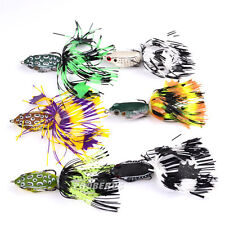 6pcs/Lot Frog Bait Fishing Lures Soft Lure Bait Tackle 6 Color 5cm/7.7g Topwater