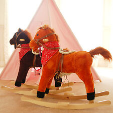 Chestnut Toddler Boys Girls Electronic Sounds and Movement Rocking Horse